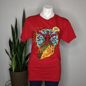 Loot Crate Marvel red Deadpool taco t-shirt S